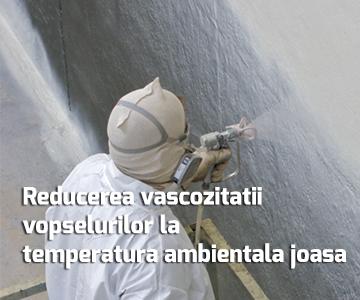 Reducerea vascozitatii vopselurilor la temperatura ambientala joasa