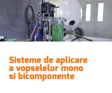 Sisteme de aplicare a vopselelor mono si bicomponente pentru asigurarea protectiei anticorozive