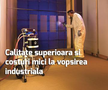 Calitate superioara si costuri mici la vopsirea industriala