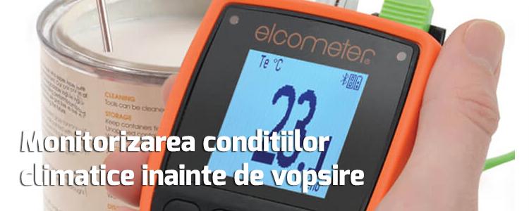 Monitorizarea conditiilor climatice inainte de vopsire