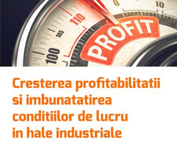 Cresterea profitabilitatii si imbunatatirea conditiilor de lucru in hale industriale