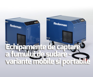 Echipamente de captare a fumului de sudare - variante mobile si portabile pentru aplicatii ocazionale sau continue