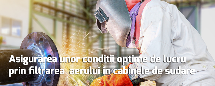 Proper air filtration ensures optimal working conditions in the welding cabinets