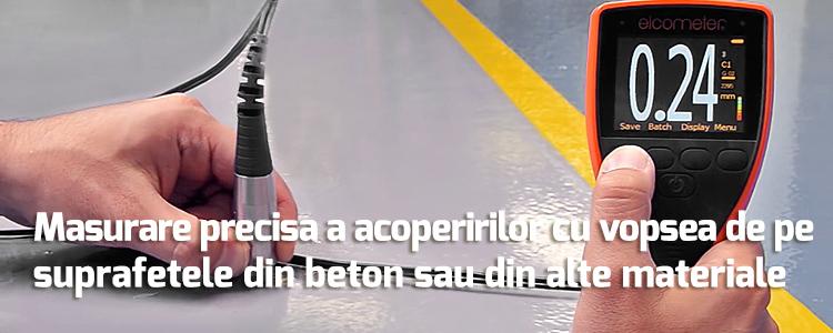 Masurare precisa a acoperirilor cu vopsea de pe suprafetele din beton sau din alte materiale asemanatoare acestuia