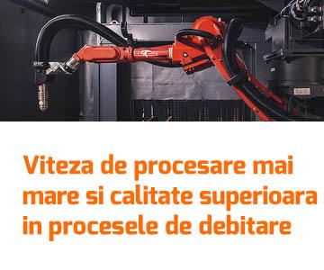 Amprenta redusa, viteza de procesare mai mare si calitate superioara in procesele de debitare table si profile