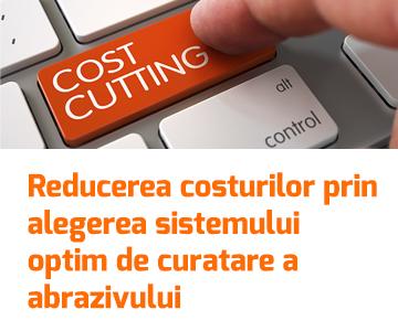 Reducerea costurilor operationale prin alegerea sistemului optim de curatare a abrazivului, in halele de sablare