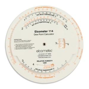 Disc de calcul al punctului de roua Elcometer 114