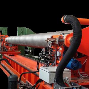 Masina ACPR2 pentru sablat butelii de gaz de dimensiuni mari